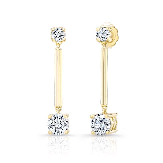 Diamond Drop Earrings 8103ER Image 1