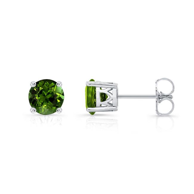 1.00ct. Green Tourmaline Studs GT-8094ER100 Image 2