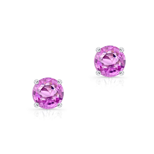 1.00ct. Pink Sapphire Studs PS-8098ER100 Image 1
