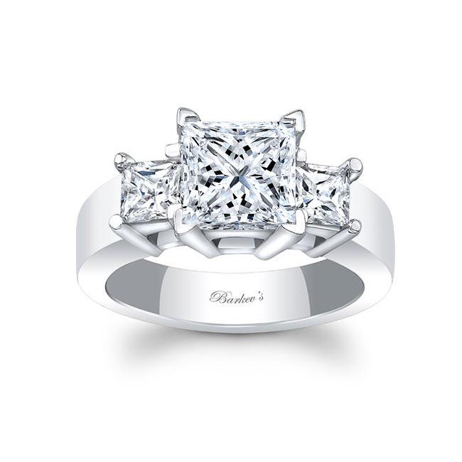 3 Stone Moissanite Engagement Ring