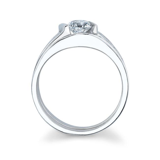 White gold diamond engagement ring set 5803S Image 2