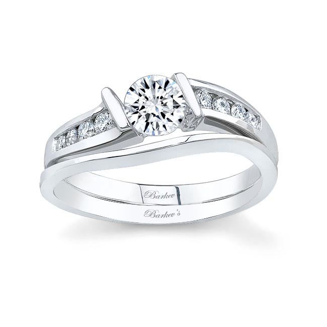 White gold diamond engagement ring set 5803S Image 1