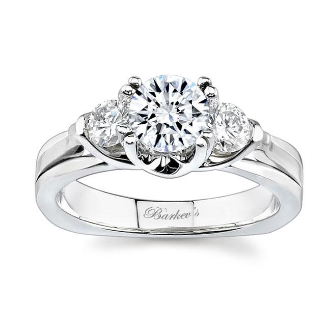 3 Stone White Gold Engagement Ring 6713L Image 1