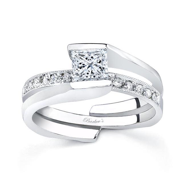 White gold diamond engagement ring set 7154S Image 1
