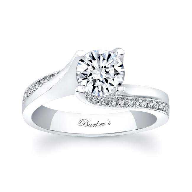 Diamond and Moissanite Engagement Ring MOI-7171L Image 1