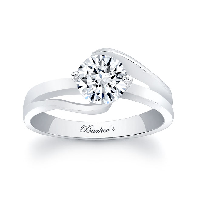 Moissanite Solitaire Engagement Ring MOI-7378L Image 1