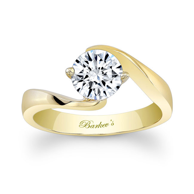Moissanite Solitaire Engagement Ring MOI-7499L Image 1