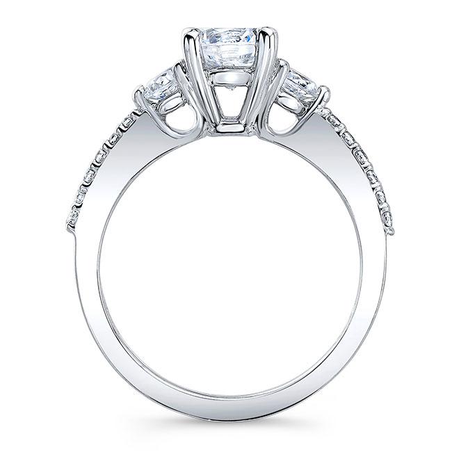 3 Stone Wedding Ring Set Image 2