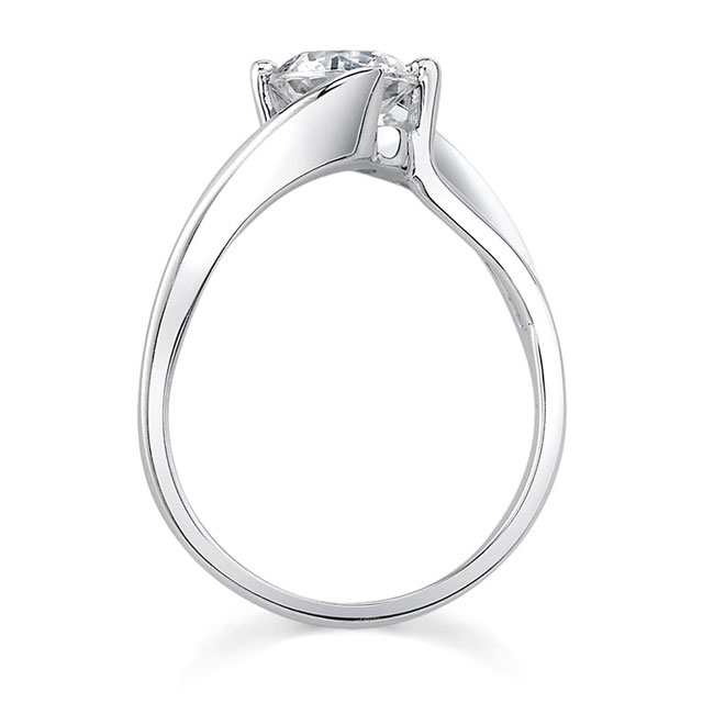 Moissanite Solitaire Engagement Ring MOI-7623L Image 2