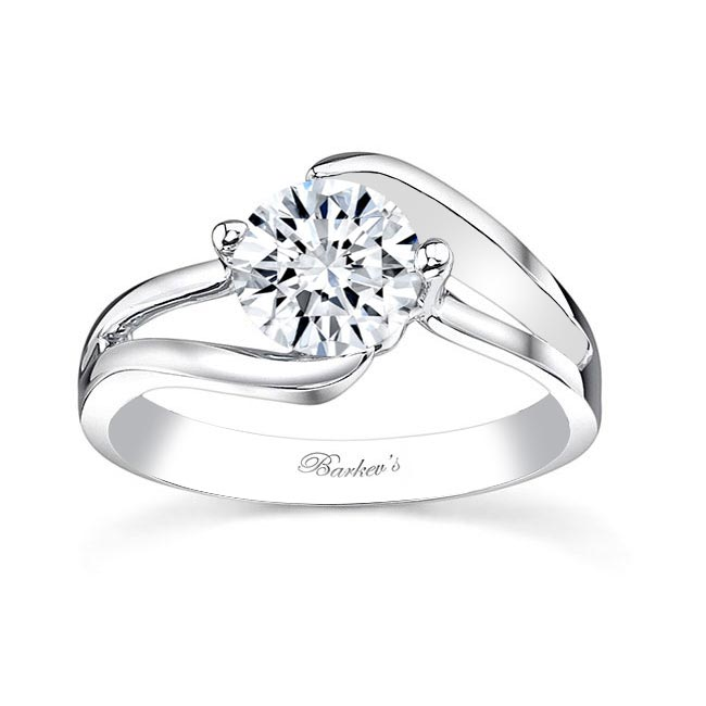 Moissanite Solitaire Engagement Ring MOI-7623L Image 1