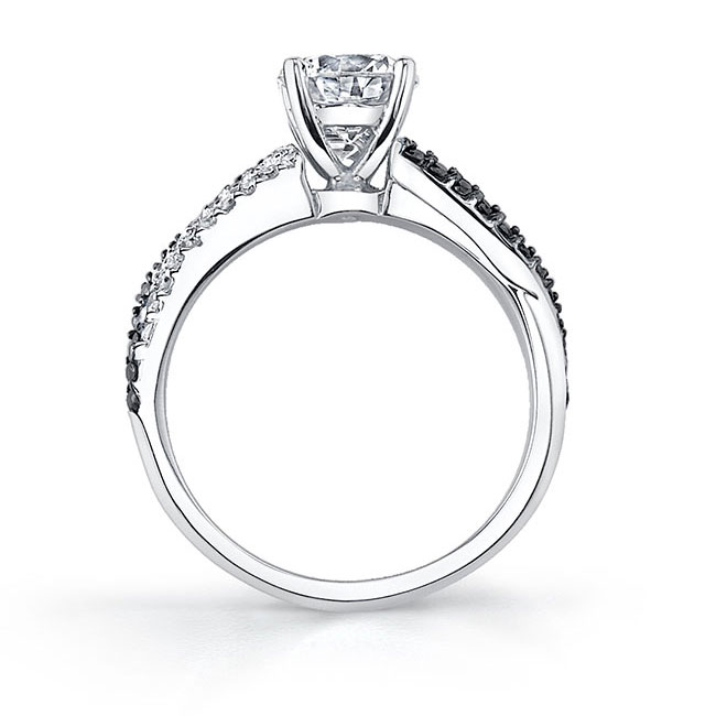 Black Diamond Engagement Ring 7690LBK Image 2