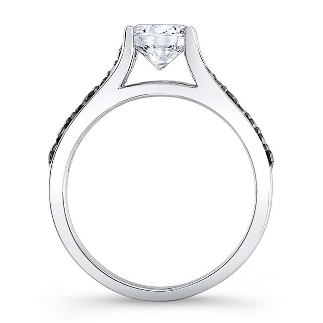 Black Diamond Engagement Ring 7698LBK Image 2