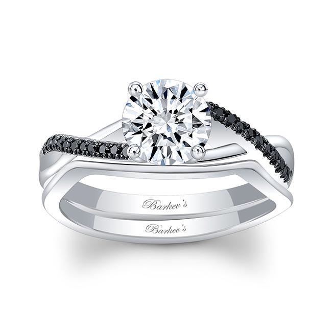 Gold Diamond Black Diamond Accent Bridal Set