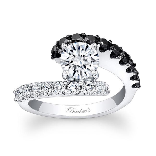 Black Diamond Engagement Ring 7737LBK Image 1