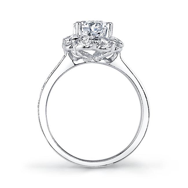 2 Carat Diamond Halo Engagement Ring Image 2