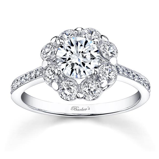 2 Carat Diamond Halo Engagement Ring