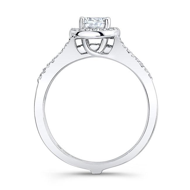 Moissanite and Black Diamond Bridal Set MOI-7875SBK Image 2