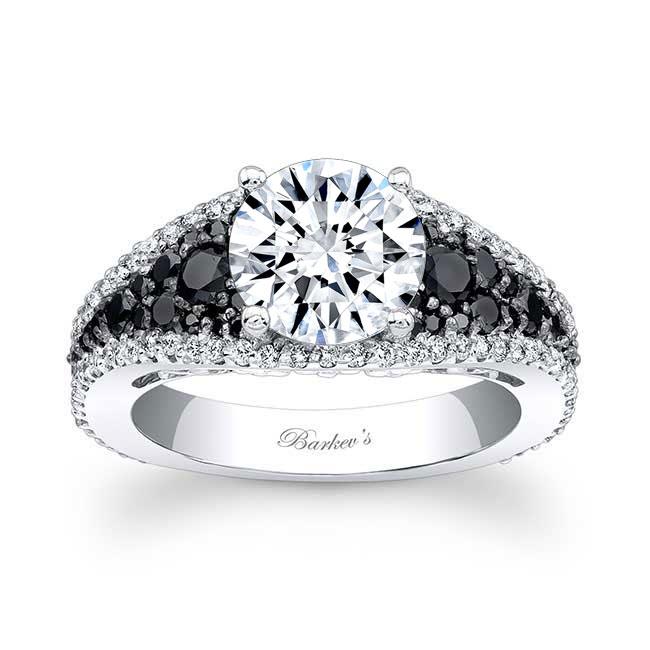 Black & White Diamond Engagement Ring 7892LBK Image 1