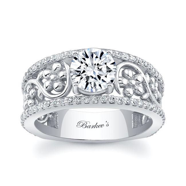 Vintage Floral Engagement Ring Image 1