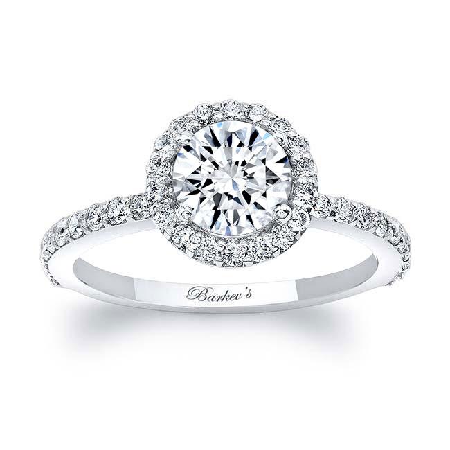 Halo Diamond Engagement Ring Image 1