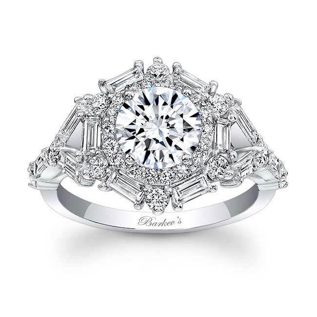 Halo Diamond Engagement Ring 7906L Image 1