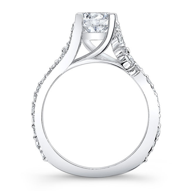 1.00ct. Round And Marquise Diamond Engagement Ring 7908L Image 2