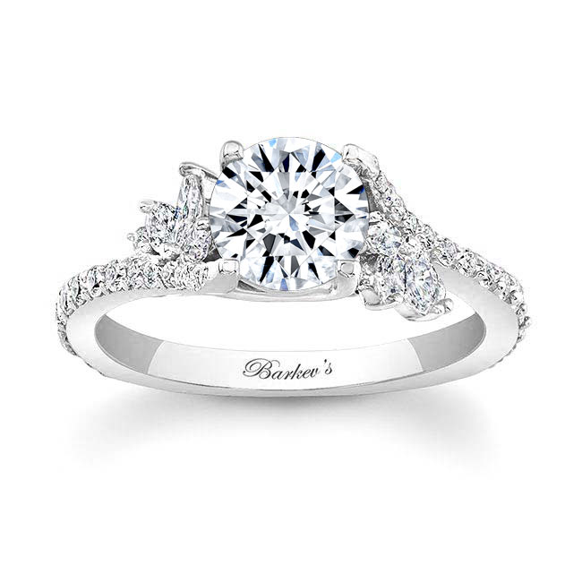 1.00ct. Round And Marquise Diamond Engagement Ring 7908L Image 1
