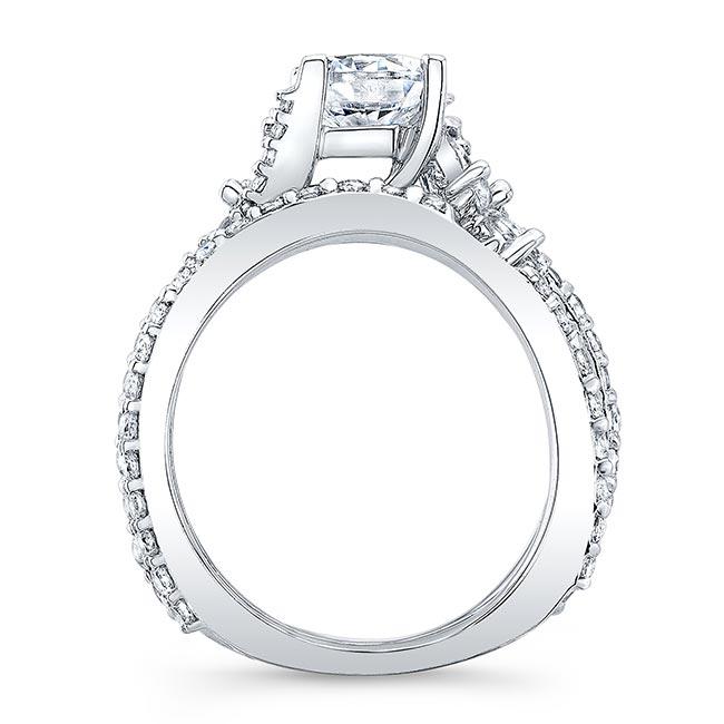 1.00ct. Round White Gold Marquise Bridal Set 7908S Image 2
