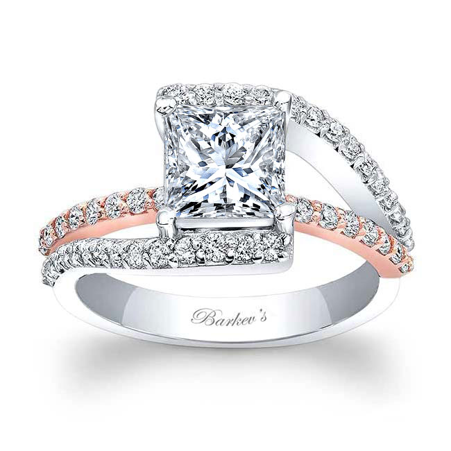 Split Shank Princess Cut Engagement Ring Image 1