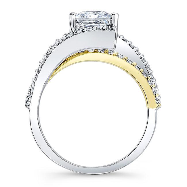 Split Shank Princess Cut Moissanite Ring Image 2