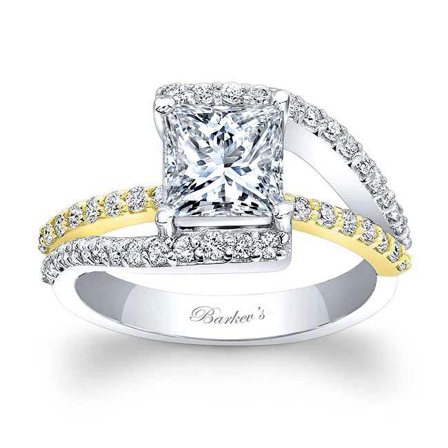 Split Shank Princess Cut Moissanite Ring Image 1