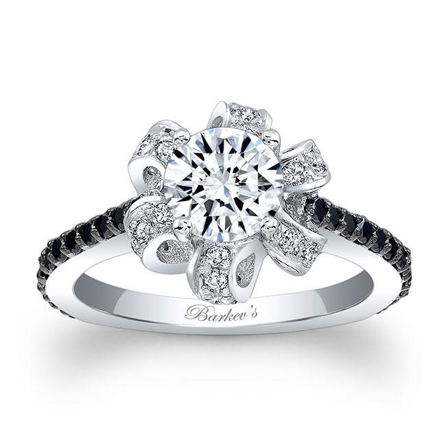 Black Diamond Engagement Ring 7958LBK Image 1