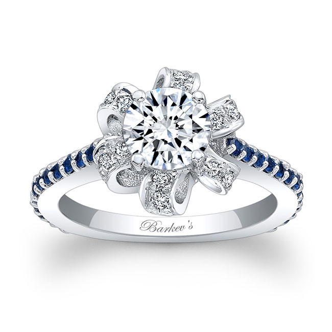 Blue Sapphire Engagement Ring 7958LBS Image 1