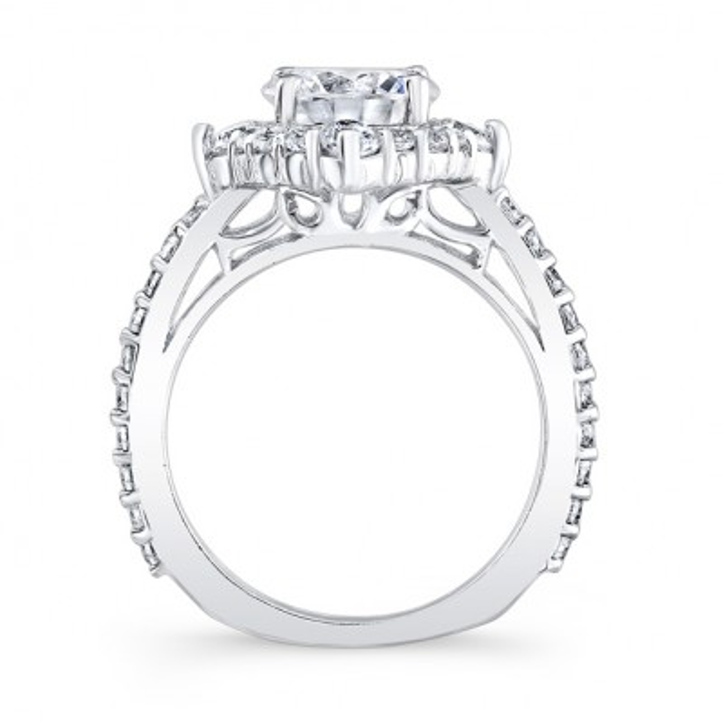 2 Carat Moissanite Halo Diamond Ring Image 2