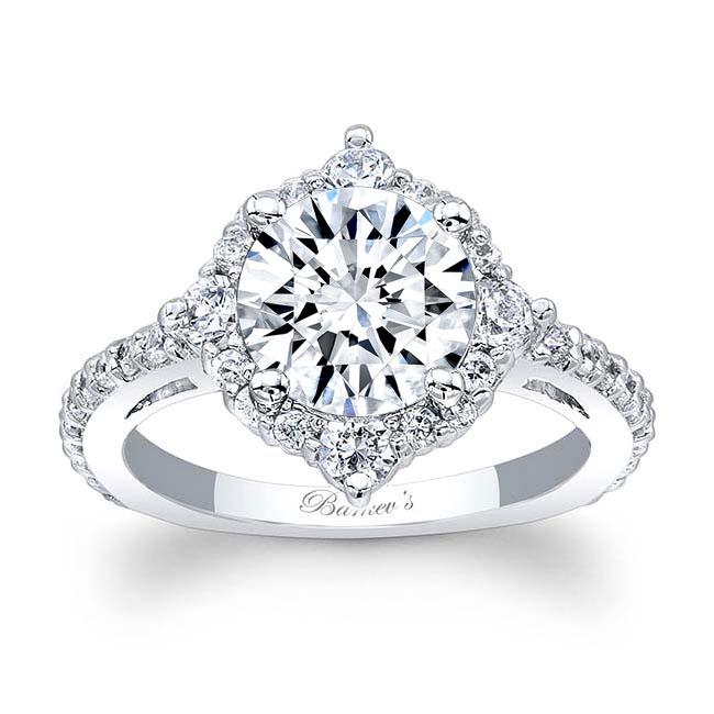 2 Carat Moissanite Halo Diamond Ring Image 1