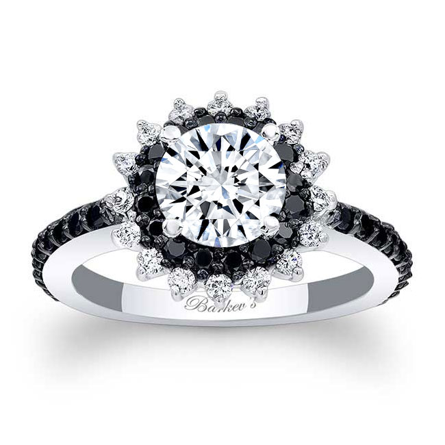 Black Diamond Sunflower Ring Image 1
