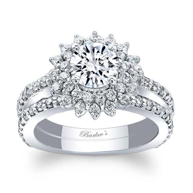 Sunflower Wedding Ring Set Image 1