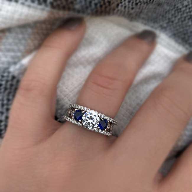 Blue Sapphire Bridal Set 7973S2BS Image 3