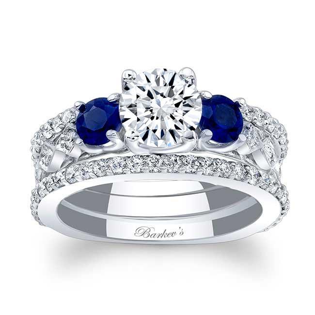 Blue Sapphire Bridal Set 7973S2BS Image 1