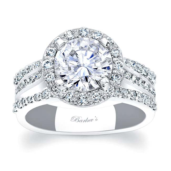 Channel Set Halo Engagement Ring