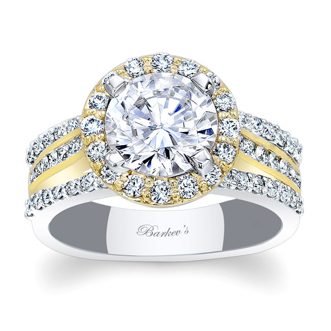 Channel Set Halo Engagement Ring Image 1