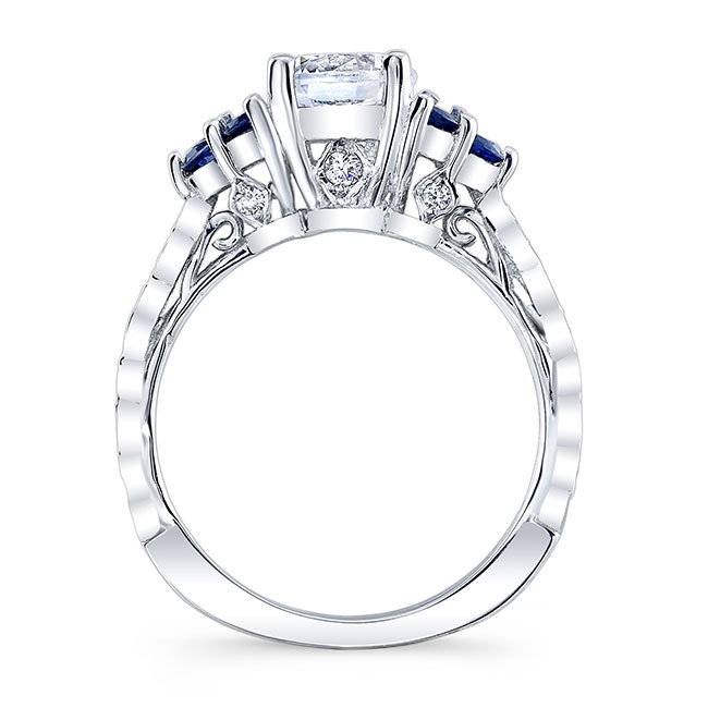 Blue Sapphire Engagement Ring 7975LBS Image 2