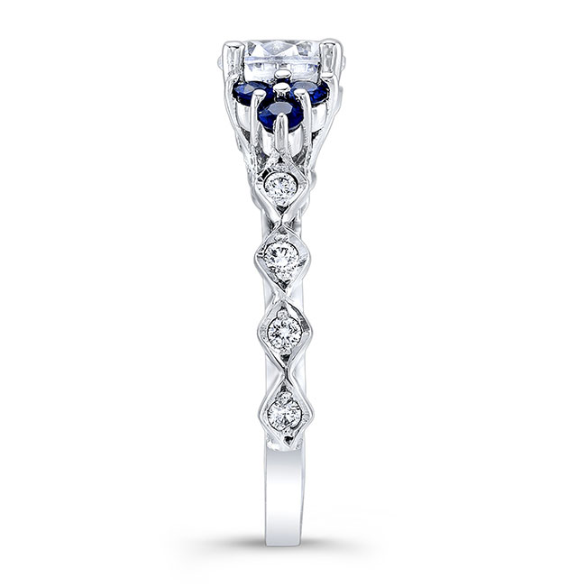 Blue Sapphire Engagement Ring 7975LBS Image 3