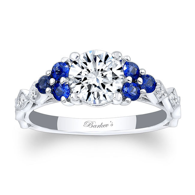 Blue Sapphire Engagement Ring 7975LBS Image 1