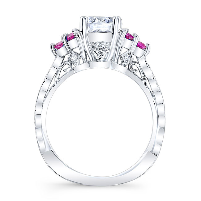 Pink Sapphire Engagement Ring 7975LPS Image 2