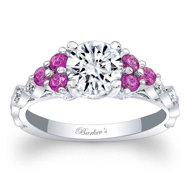 Pink Sapphire Engagement Ring 7975LPS Image 1