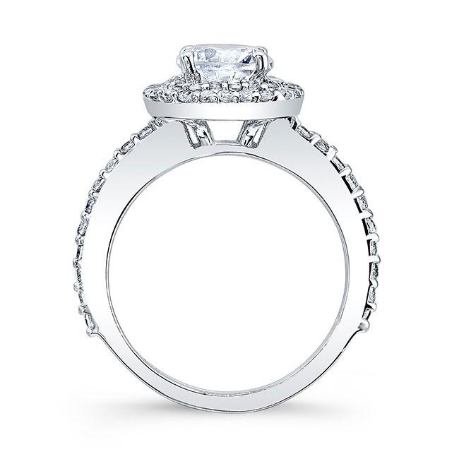 Double Halo Round Engagement Ring Image 2