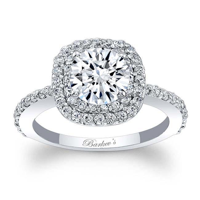 Double Halo Round Engagement Ring Image 1