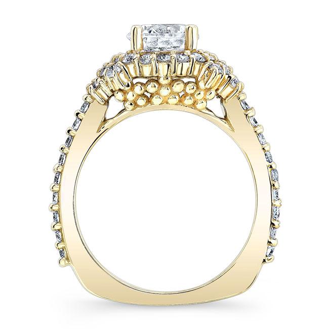 Moissanite Cluster Ring Image 2