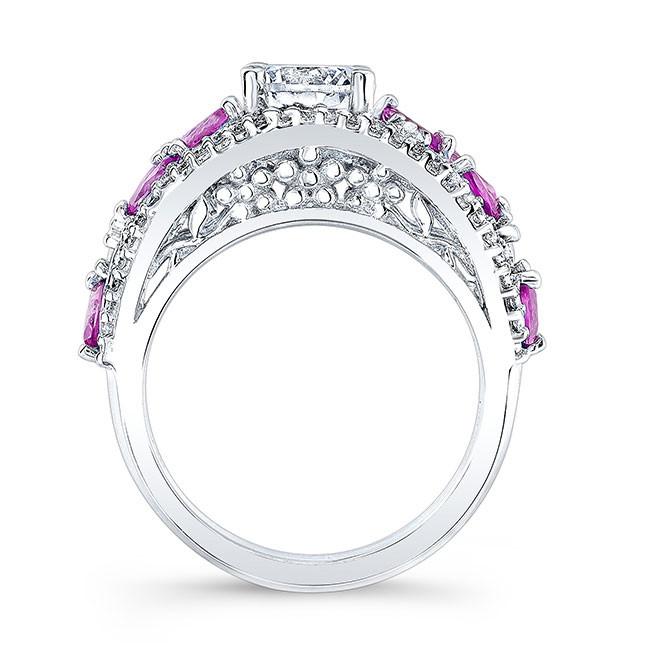 Pink Sapphire Engagement Ring 7984LPS Image 2
